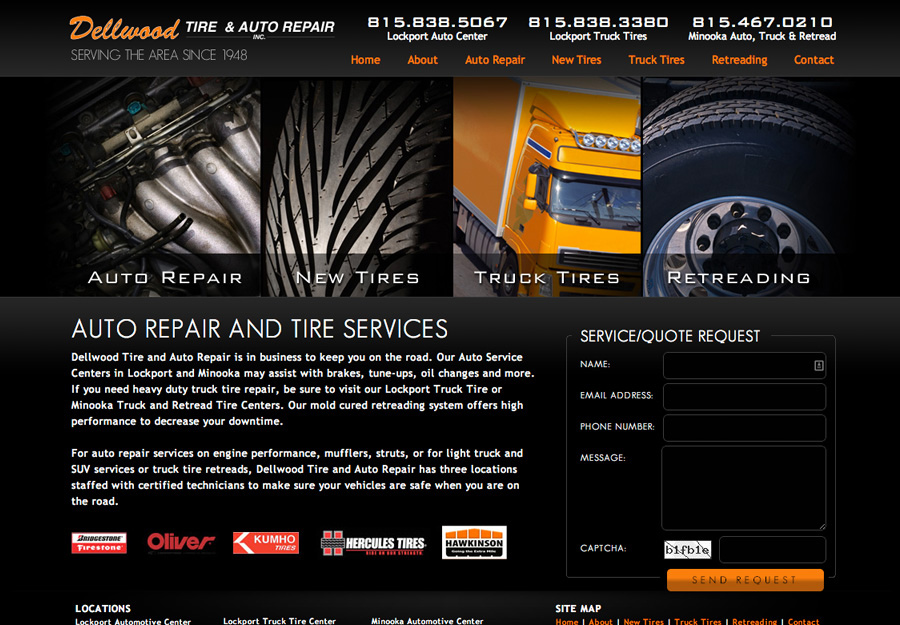Automotive Service Web Design