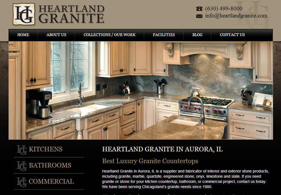 Kitchen Website Design Awesome Granite And Kitchen Web Design  Weblinx Decorating Inspiration