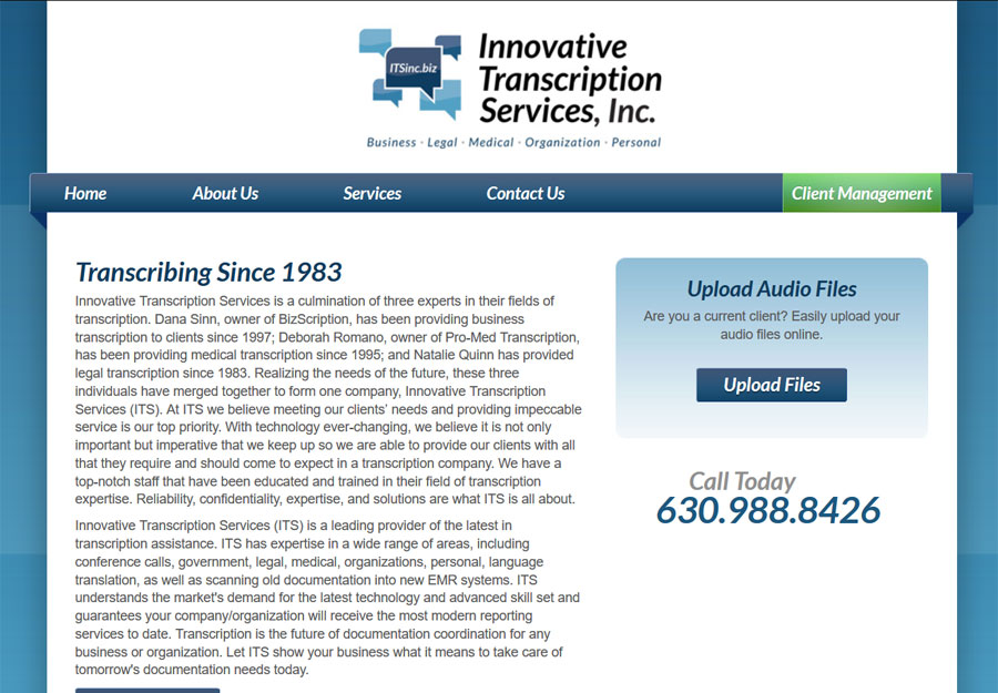 Medical Transcription Web Design