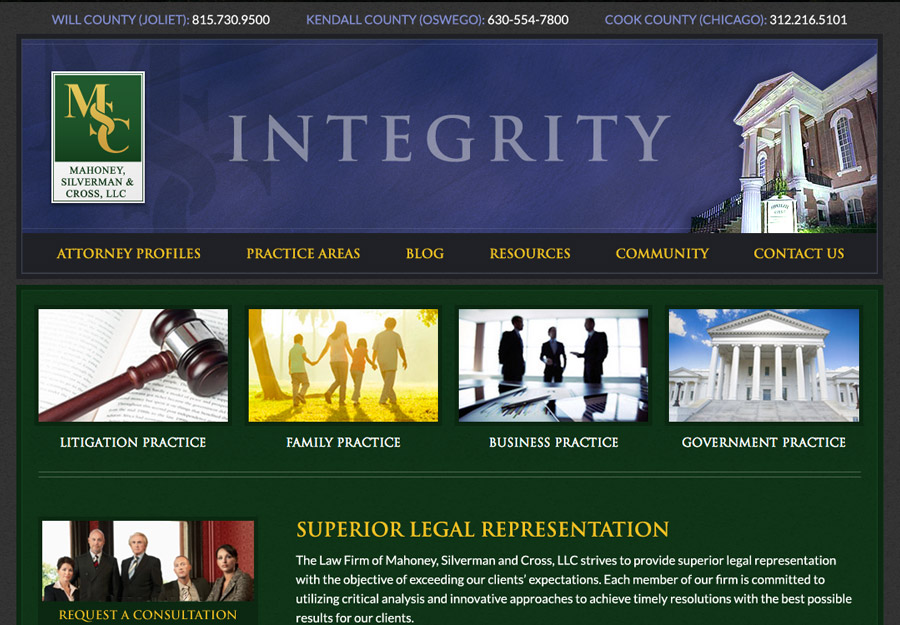 Corporate Attorney Web Design