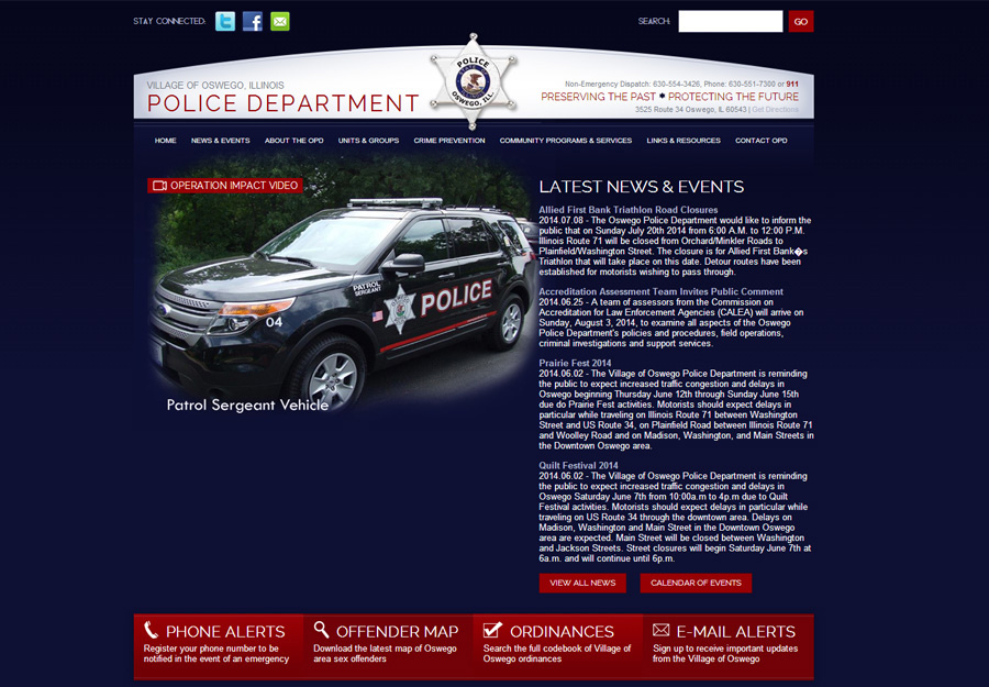 Police Department Web Design