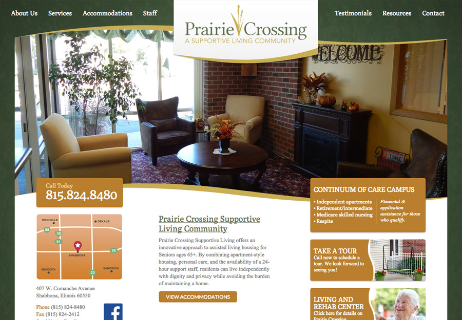 Assisted Living Web Design