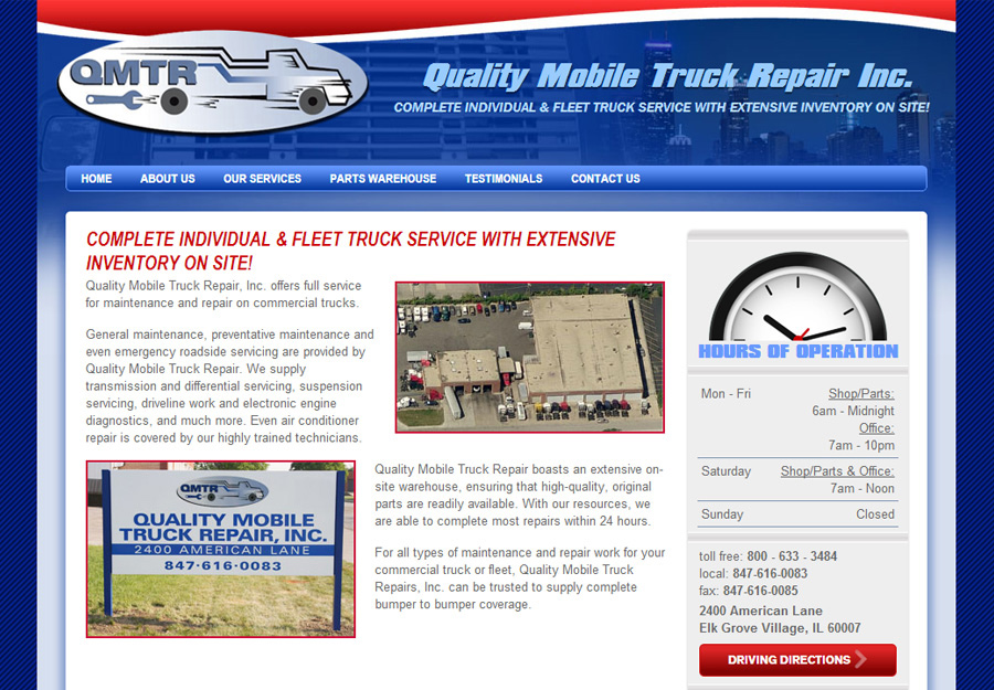 Trucking Industry Web Design