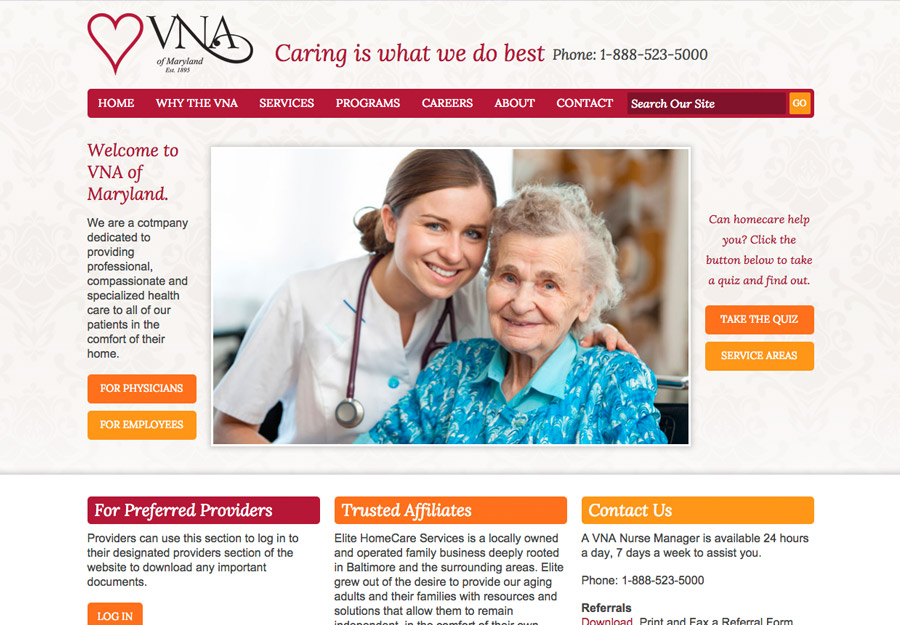 Home Health Web Design