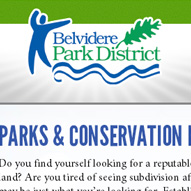 A screen capture of Belvidere Park District's website