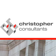 A screen capture of Christopher Consultants' website