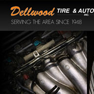 A screen capture of Dellwood Tire's website