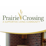 A screen capture of The Prairie Corssing website